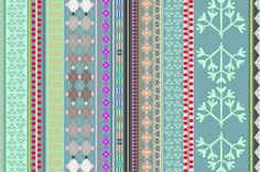 Fairisle - I especially like the parsley looking one far right.