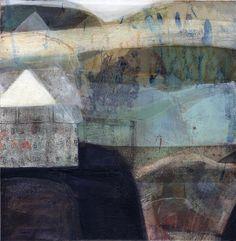 """Rain"" by Anne Davies Contemporary Landscape, Landscape Art, Landscape Paintings, Painting Collage, Collage Art, Encaustic Art, 2d Art, Anne Davies, Medium Art"
