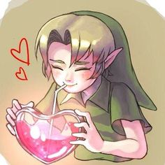 """Young Link: """"S-say, what's in this potion?"""" --⚜-- Good Night everyone! I have a kinda major test coming up tomorrow so I'm gonna head to bed """"early"""" (it's like, 10pm). Can't wait for Discount Candy Day tomorrow too! Peace! ✌️ --⚜-- Tags: #legendofzelda #loz #tloz #thelegendofzelda #games #gamer #hyrule #triforce #botw #nintendo #link #zelda #oot #ocarinaoftime #hyrulewarriors #hyrulewarriorslegends #majorasmask #adultlink #fiercedeitylink #younglink #majora #linksawakening #twili..."""