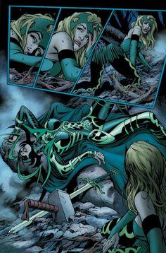 Morgan Le Fay Camelot Avengers Spider Woman Foe