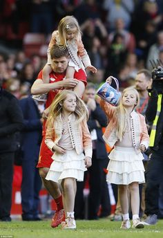 Moving on: Gerrard, with his three daughters, will move to LA Galaxy in June after an illu...