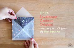 DIY 01. Enveloppe Cadeau Origami par Atelier des Nautes(www.atelierdesnautes.fr) avec jolis papiers origami de Mon Petit Art.