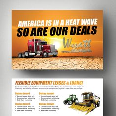 Create an attention grabbing and polished mailer for Wyatt Leasing LLC by Adwindesign