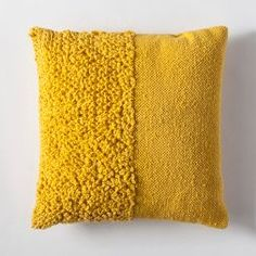 Solid Textured Throw Pillow – Project – image 1 of 2 Solides strukturiertes Dekokissen – Project 62 ™ – Bild 1 von 2 Yellow Throw Pillows, Diy Pillows, Accent Pillows, Decorative Pillows, Pillow Ideas, Cushions, Couch Pillows, Cricut, Punch Needle Patterns