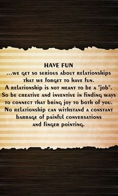 Have fun in your relationship #relationshipadvice #couples #lastinglove #iloveu #justthetwo #usagainsttheworld #soulmates