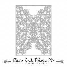 Boda invitación tarjeta de patrón de 5 x 7 pliegues de encaje