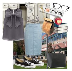 """Classy Back to School Fashion Fun Grey Simple"" by mrshellokitty0924 ❤ liked on Polyvore"