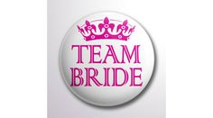 Fehér team bride lánybúcsú kitűző, Nicol Party Kellék Bolt Team Bride, Party, Parties