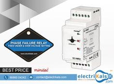 Phase Failure Relay - Buy Minilec S2 VMR 2 DIN Rail Mounted Voltage Sensing Phase Failure Relay with Fixed Under & Over Voltage Setting Online @ electrikals.com #BuyMinilecRelaysOnline #BuyMinilecS2VMR2DINRailMountedOnline #PhaseFailureRelayDINRailMounted #VoltageSensingPhaseFailureRelays #OnlineShopping