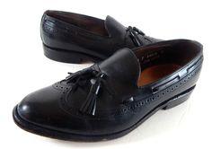 Men's ALLEN EDMONDS Shoes Black Mens 7.5 C Tassel Loafers #AllenEdmonds #Oxfords