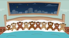 Diez en la cama - Canciones infantiles - Toobys - Canción para niños (+p...