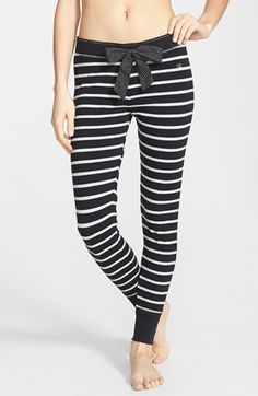 BP. Undercover 'Comfy Cozy' Stripe Pajama Pants (Juniors)