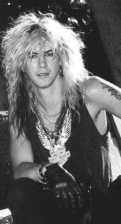 Duff Mckagan ~ Bassist, GNR he always looks great in black and white pics :)