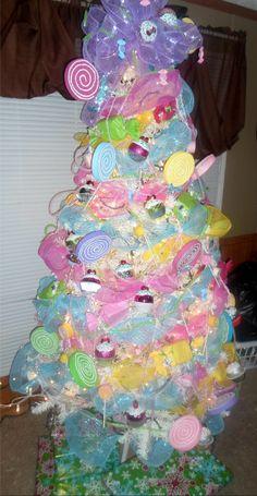 candy land christmas tree unusual christmas trees whimsical christmas pink christmas tree holiday - Candyland Christmas Tree