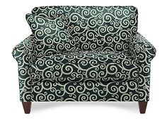 My chair-and-a-half from LazyBoy that I want with an ottoman.  The pattern is so me!