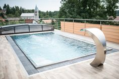 Is your roof terrace missing something? We know, it has a spectacular view of the surroundings. In case you need to cover it we have you covered, our pools come with custom designed roofs as well. Summer Pool, In Ground Pools, Own Home, Rooftop, Sunny Days, Terrace, Custom Design, Sky, Luxury