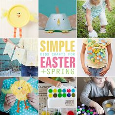 8 Simple Kids Craft ideas for Easter + Spring. #easter #spring #crafts