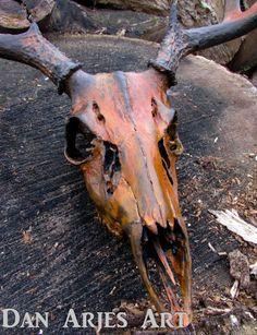 Tagging Out on a Public-Land Deer Hunt - Way Outdoors Deer Skull Decor, Deer Hunting Decor, Painted Animal Skulls, Deer Art, Deer Antler Crafts, Antler Art, Crane, Deer Mounts, Skull Painting