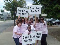 great idea for a prayer outreach