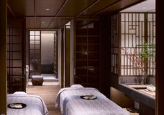 Spa treatment double room at the Four Seasons Kyoto by HBA Design