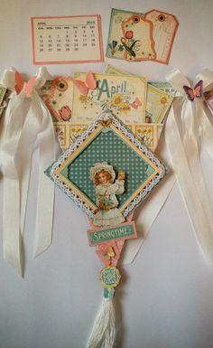 Graphic 45 Time to Flourish Banner Mini Album Calendar by Anne Rostad