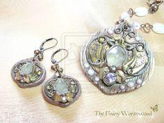 Steampunk-Fairy Nouveau Parure by EnchantedTokenArt.deviantart.com on @deviantART