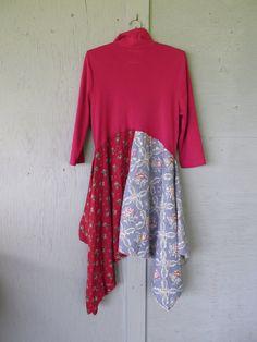 Romantic Bohemian dress tunic/Eco upcycled by lillienoradrygoods