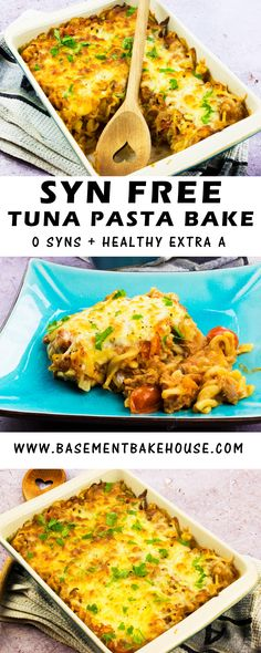 This Syn Free Tuna Pasta Bake recipe is the perfect Slimming World lunch or dinner recipe to make for the whole family! Ready in just 30 minutes it's perfect for meal prep or as a healthy, comfort food dinner. bake Best Ever Syn Free Tuna Pasta Bake Healthy Pasta Bake, Healthy Pastas, Healthy Baking, Easy Healthy Recipes, Veggie Bake, Healthy Food, Healthy Tea Ideas, Raw Food, Baking Snacks