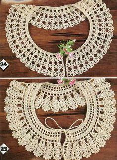 Crochet Knitting Handicraft: collar