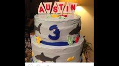 Sharks  Birthday boy cake