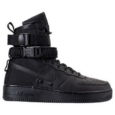 NIKE MEN'S SF AIR FORCE 1 BOOTS, BLACK. #nike #shoes #