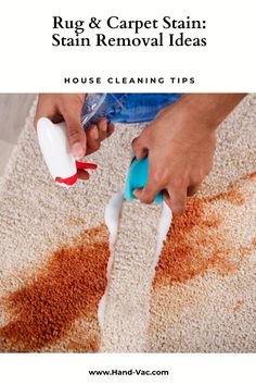 Stain removal ideas for carpets will give you ideas on how to remove several stains. Check out the article. Household Cleaning Tips, House Cleaning Tips, Cleaning Hacks, Diy Cleaners, Cleaners Homemade, Ink Cartridge Reset, Organize Life, Cleaning Carpet Stains, Cleaning With Hydrogen Peroxide