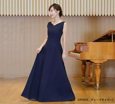 0973d024a607c シンプル フォーマル ブラック ドレス 発表会 演奏会 伴奏 オーケストラ コンクール ステージ衣装 20代 30