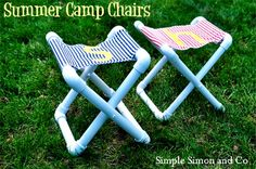 DIY PVC Pipe chair. God knows every tailgater and outdoorsy person has one of these.