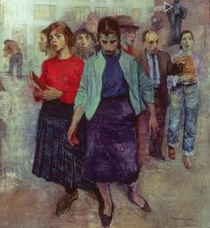 Raphael Soyer, 1899-1987  Farewell to Lincoln Square  1959