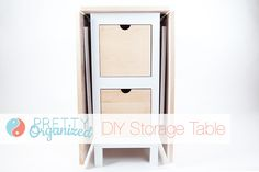 DIY Projects: Folding Dining Table w/ Storage    #organize #small-spaces #diy