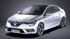 Renault Megane Sedan 2017 3D Model .max .c4d .obj .3ds .fbx .lwo .stl…