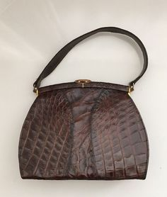 28bb1471ab Vintage 40's Deitsch Crocodile purse brown #Deitsch #Purse Wholesale  Purses, Handbags On Sale