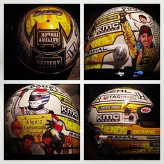Graham Rahal's Vin Designs Graham Rahal Foundation helmet