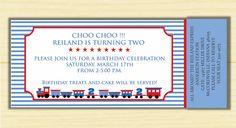Train ticket invitation