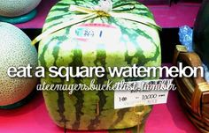 ive never tried normal watermelon but if they taste anything like melon then im not trying them but ive heard square ones taste different