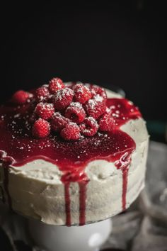 Adventures in Cooking: Raspberry Brown Butter Cake with Goat Cheese Buttercream & A Raspberry Port Reduction + A Trip To Napa