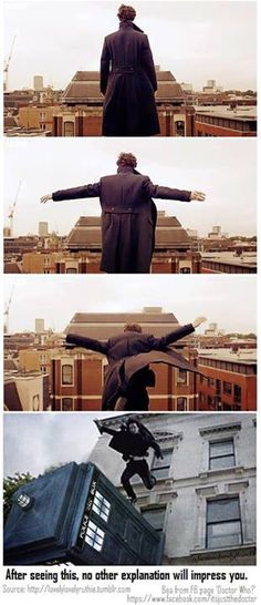 Sherlock and Doctor Who....so that's how he did it!