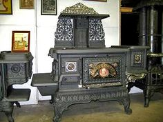 One of the most ornate cook stoves to enter my shop. 1890 circa. NOTE- can convert to gas or electric top and electric oven.