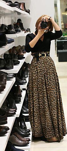 leopard print maxi skirt                                                                                                                                                                                 Más