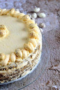 Citromos-mákos torta Cake & Co, Pastry Cake, Pastry Recipes, Pie, Poppy, Sweets, Cakes, Kuchen, Torte