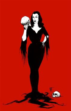 "natjonesart: ""Vampira in Blood Red """