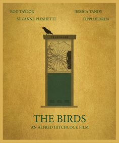 The Birds Movie Poster Print Home Decor by SuddenGravityPosters