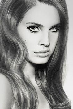 Lana Del Rey Drawing I wish I was that good Omg