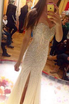 Rhinestone prom dress, Chiffon prom dress, Mermaid prom dress, 2016 prom dress…